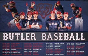 Butler Boys 2019 Varsity Baseball Schedule featuring the seniors.